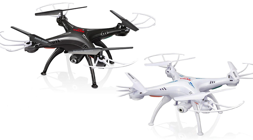 Syma X5SW Drone in black and white