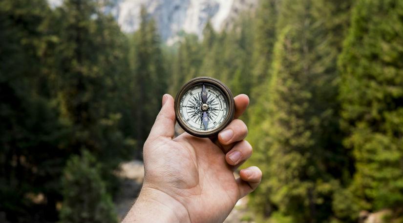 A compass for navigation