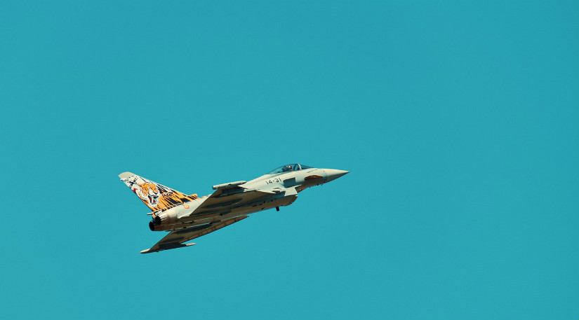 A fighter jet in the sky